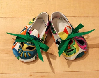 Lucha Libre (Wrestler's Masks) Print Baby Booties