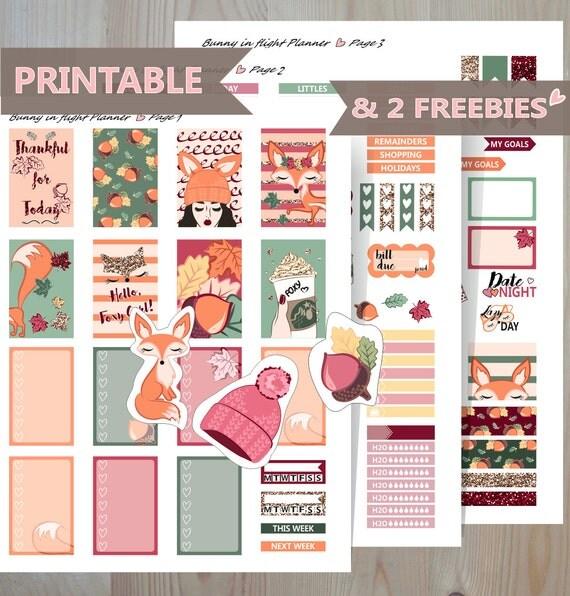 Printable Calendar Kit : November printable sticker kit stickers