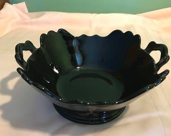 Black Amethyst Serving Bowl