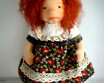 "Waldorf Doll, Sophie 16"" Doll, OOAK Doll, handmade doll by Lavande et Poupees"