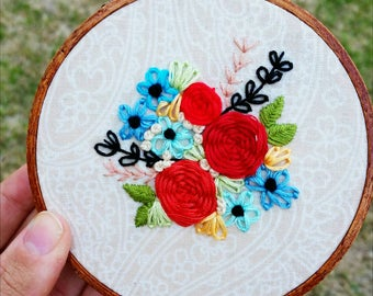 Floral Embroidery • 4-inch hoop