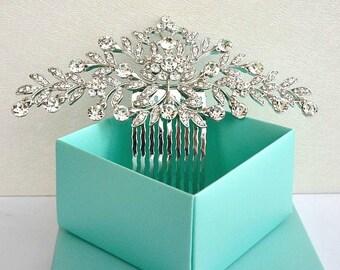 Vintage Style Art Nouveau Bridal Hair Comb, Rhinestone Crystal Wedding Hair Comb, Wedding Headpiece, Bridal Hair Piece, Wedding Hair Jewelry