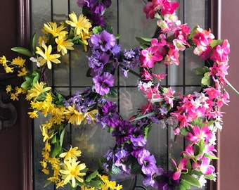 Wild Flower Large Door Wreath