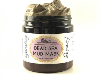 Dead Sea Mud Mask - Dead Sea Mud from Isreal - Firming - Heals Acne - Moisturize - Wrinkles - Collagen - Silk Aminos - Coconut Oil - Clay