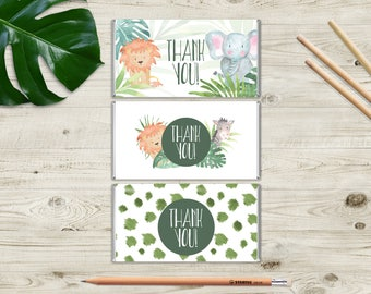 WILD ONE! Printable Jungle Chocolate Bar Wrappers