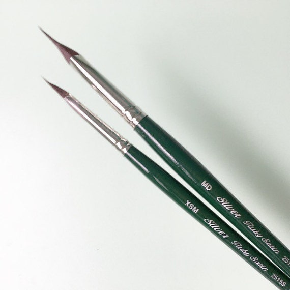 Brush Ruby Satin Pointed Triangle