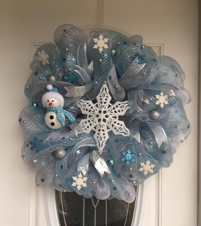 winter wreath for front door snowman wreath white wreath. Black Bedroom Furniture Sets. Home Design Ideas