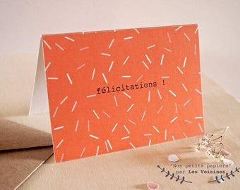 """Mini Card """"Congratulations"""""""