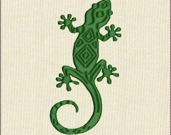 Moks104 lizard  Machine Embroidery Design in formats: jef, dst, hus, pes, exp, vp3, vip, xxx.