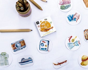 45 Pieces Go To Travel Stickers
