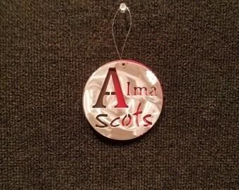 Alma College Scots ornament
