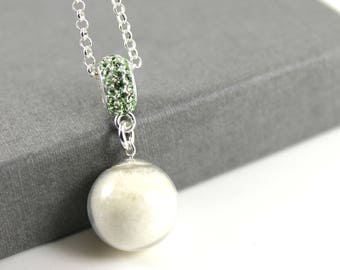 DIY Sterling Silver Birthstone Carrier with Breast Milk Pearl Necklace Kit, Do it Yourself DNA Breastmilk keepsake