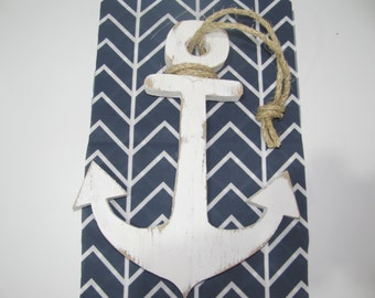 Wooden boat anchor