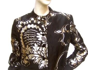 BILL BLASS for Neiman Marcus Opulent Brocade Bolero Jacket