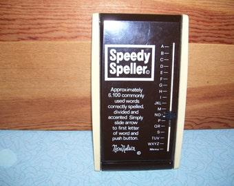 "Vintage Speedy Speller ""Nora Nelson""."