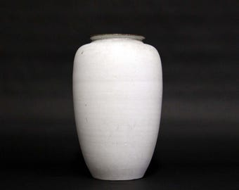 Mobach-big tall white vase