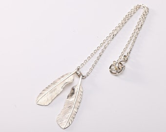 Silver Feather Necklace | Native American Inspired | Silver Feather Charm | Eagle Feather Pendant | Tribal Feather Necklace | Gift for Her