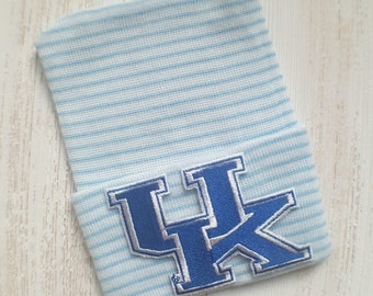 Newborn boy hospital hat- University of Kentucky, Kentucky baby boy hospital hat, blue hospital hat, newborn hat, Kentucky Wildcats