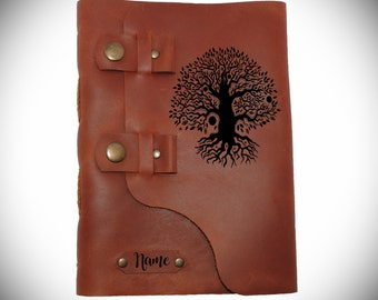 Tree of life journal /Personalized diary/Leather notebook/ Custom sketchbook/ Leather gift