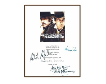 Paul Newman Butch Cassidy And The Sundance Kid Signed Script Rpt - Paul Newman, Robert Redford, Katharine Ross