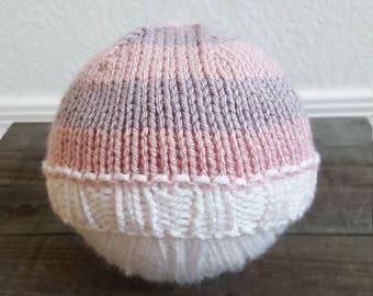 Newborn Baby Hat, Newborn Knit Beanie, Baby Shower Gift, Photography Prop