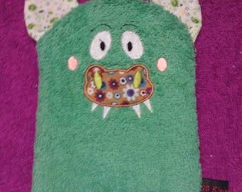 "Washcloth/washcloth ""Dragon"", embroidered animal motif,"