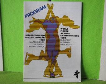 Program for the 1988 World Figure Skating Championships held in Budapest, Hungary