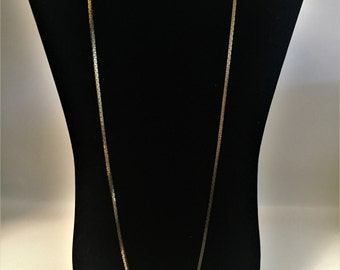 "Vintage Monet Chain Necklace, Gold Tone Necklace, Long Chain, 30"" in Length, Necklace, Monet Jewelry, Vintage, Long Necklaces, Long Monet"