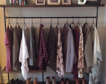 Farmhouse Clothing Rack / Storage