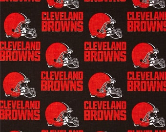 NFL Cleveland Browns Cotton Fabric by the Yard (IST3)