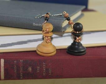 Chess pawn earrings earrings