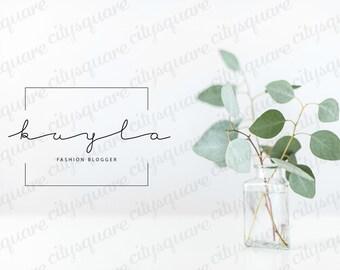 Premade Logo, Modern Logo Design, Black and White Geometric Logo, Customizable Minimalist Business Logo, Personal Elegant Signature Logo