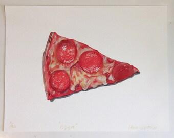 Pizza impresión