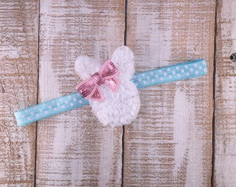 Easter Bunny Headband, Bunny Baby Headbands, Easter Infant Headbands, Bunny Rabbit Headband, White Easter Rabbit