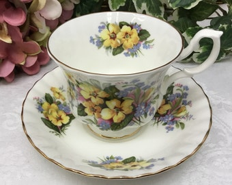 Royal Albert Summertime Series teacup and saucer.
