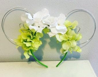 Mike Wazowski floral wire ears