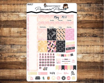 May 2017 Monthly Mini H Planner set, Planner Stickers,  {#M07}