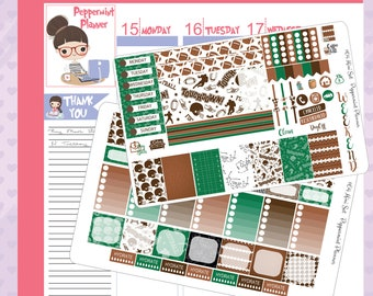 Mini H Weekly Planner Stickers, Football Stickers {#64}
