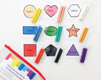 Preschool Toys - Busy Bags - Shapes and Colours - Tomato Activity Kit - Colour Match - Toddler Activity - Fine Motor Skills - Toddler Gift