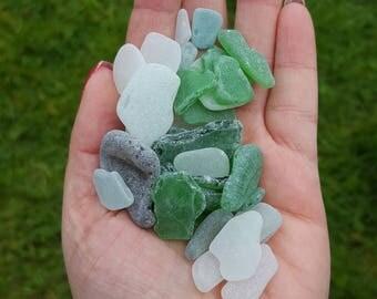 Beach glass pieces, Irish beach finding, seaglass for crafts and aquarium, seaglass lot, #23