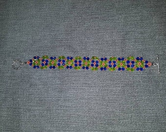 Floral beaded designing bracelet by hand made