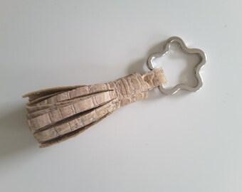 Cork fabric keychain