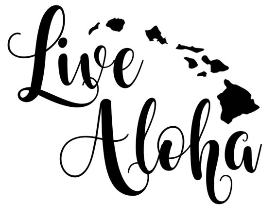 Live Aloha Hawaii Custom Vinyl Decal Sticker Macbook - Custom vinyl decals hawaii