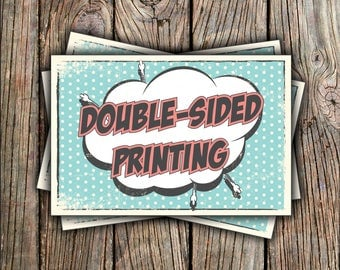 Double Sided Printing - Invitation Only