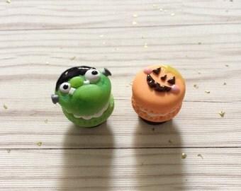 Halloween macaroon magnet frankenstien and jack o lantern Black Friday sale
