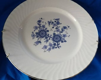 Royal Blue and White Ironstone Wedgewood Plate