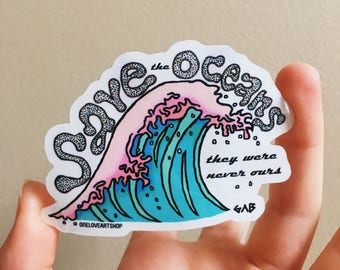 Save the Oceans Sticker