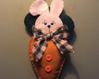 Bunny in Carrot Wall Hanging