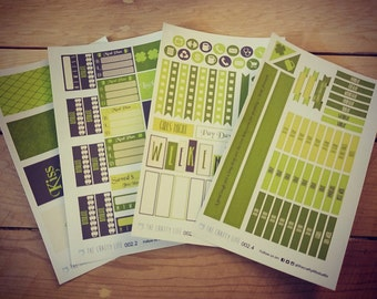 Weekly Planner Sticker Kit! Green Goodness! St. Particks Day!