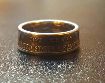 US Nickel Coin Ring